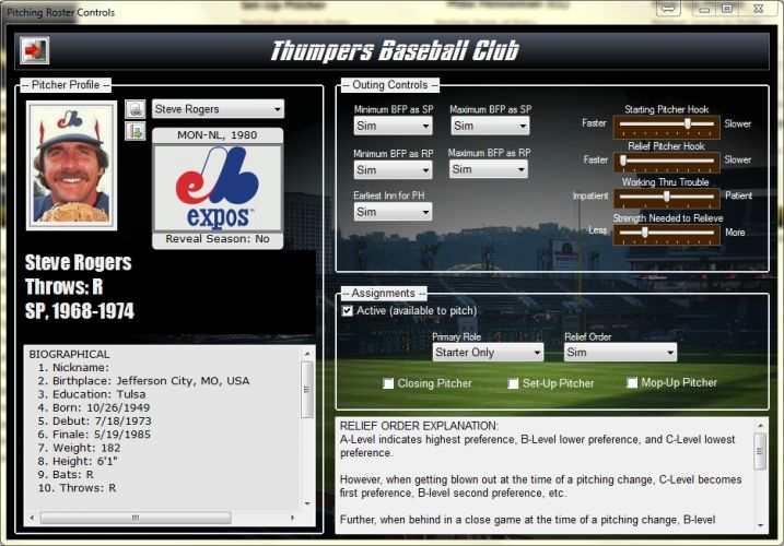 Pitching Roster
